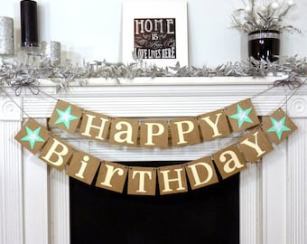 happy birthday birthday party banner sign happy birthday decorations photo prop office party age specific glitter stars birthday office decorations