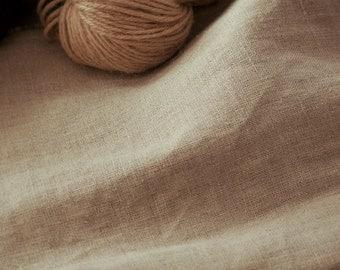Organic Undyed Natural Linen Fabric. 150cm wide.