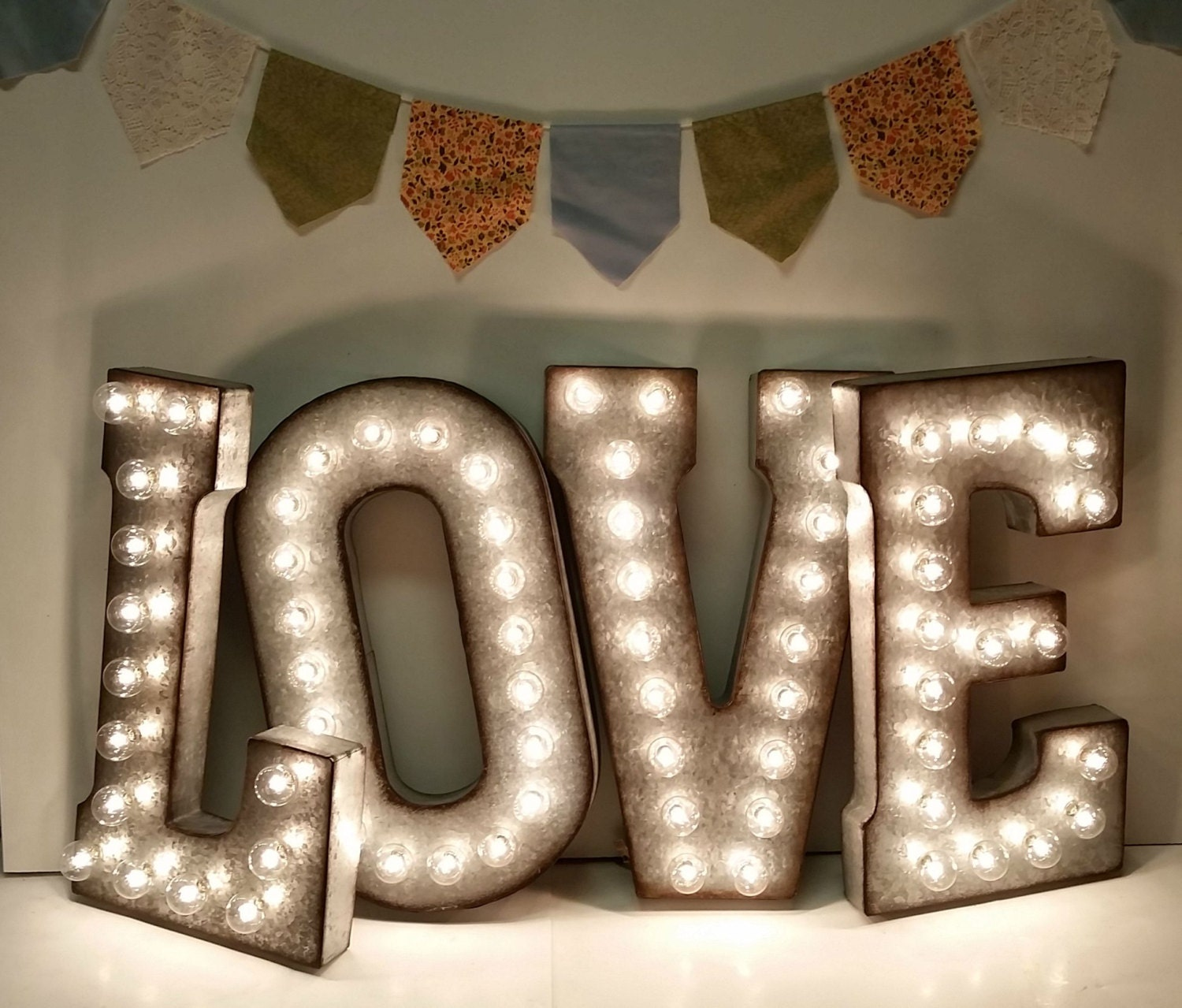 Galvanized metal marquee light letter 21 for Metal letters with lights