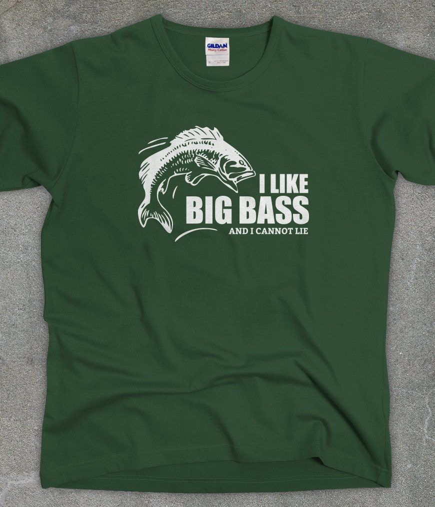 I like big bass funny fishing shirt unisex fishing t shirt for Bass fishing shirt