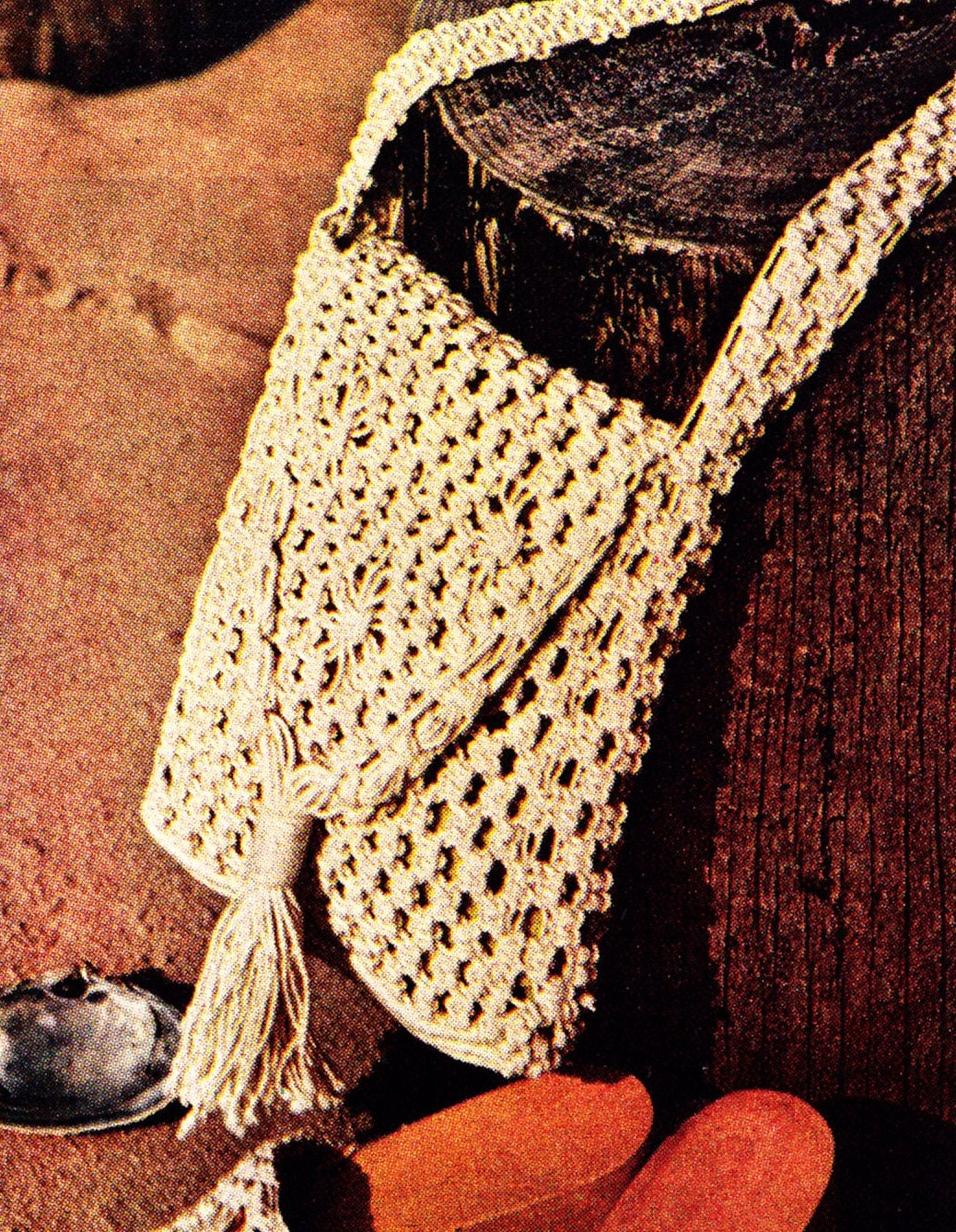 macrame purse and sandals patterns by cowichanvalley on etsy