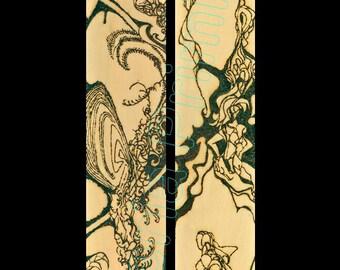 Diptych / Large Wall Art...11.75x35.75 – Striking High Resolution Giclée Print / SOLAR ART - Solar PYROGRAPHY - Woodburned Art