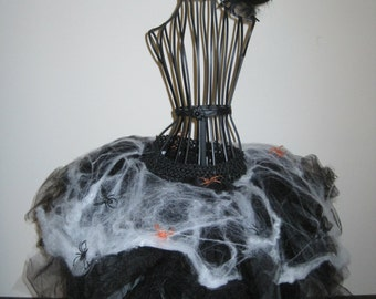 Amazing and Creepy Spider Tutu, Child Spider Costume, Child Spider Tutu, Halloween Costume, Party Tutu, Photo Prop