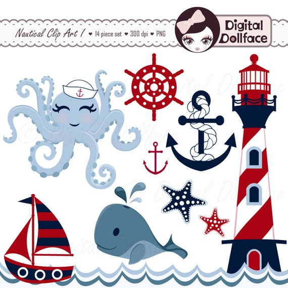 nautical clipart summer anchor whale sailboat octopus waves rh catchmyparty com