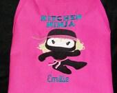 NINJA Personalized Kids Cooking Baking Childs Childrens Girls Apron USA Made