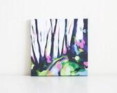 Mount Davidson - Green - original handpainted 8x8 landscape acrylic painting