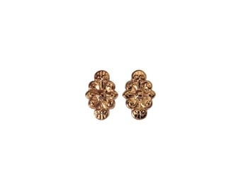 Embellish plugs 6 Gauge (4mm) rose gold plated sterling silver  double flared