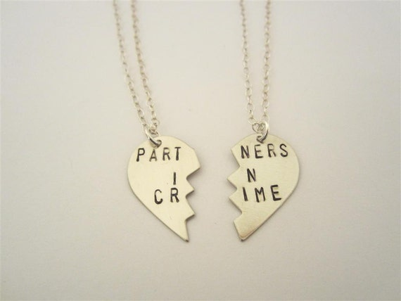 partners in crime necklaces sted nickel silver bff