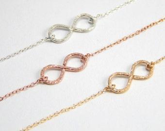 Gold filled infinity bracelet, infinity bracelet, infinity charm bracelet, everyday bracelet, handmade infinity symbol everyday bracelet 202