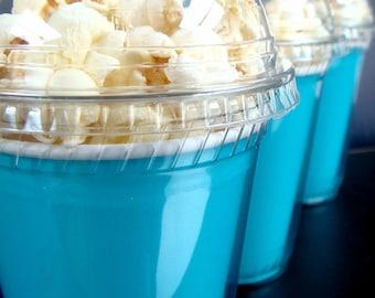 Birthday Party Popcorn Cups, Caribbean Blue