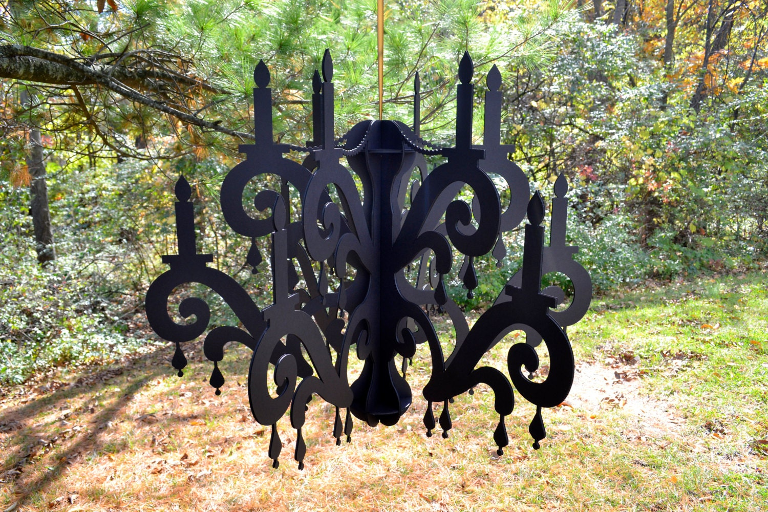 Xxl chandelier black home party decor for Decoration xxl