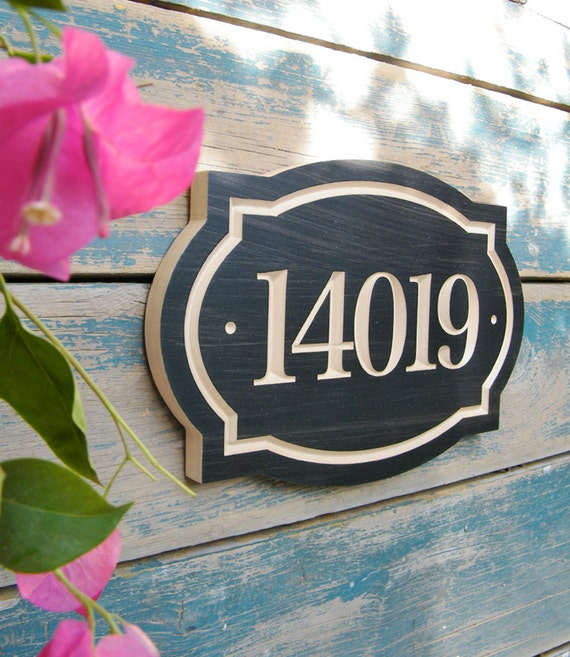 11 x 8 classic house number engraved plaque for Classic house number plaque