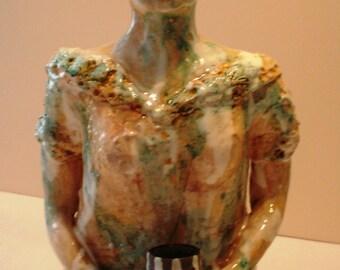 female, clay, sculpture,unique