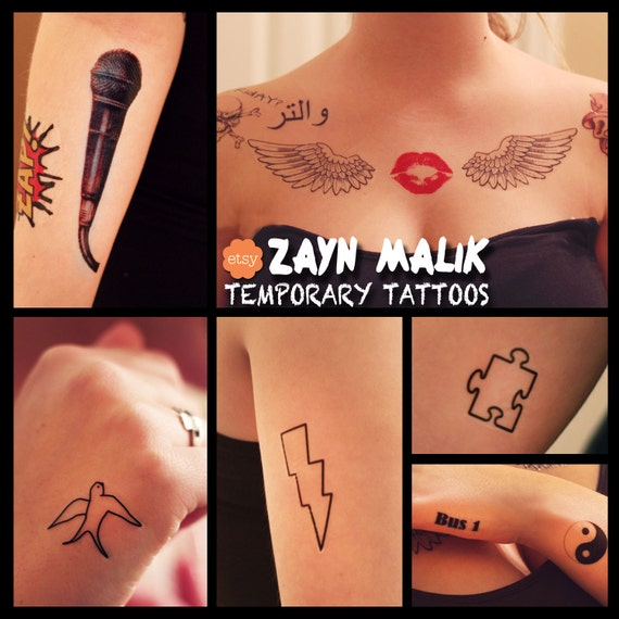 Zayn Malik Inspired Temporary Tattoos by FangirlTattoos on ...
