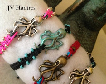 Nautical Octopus Macrame Bracelet - QTY - 1