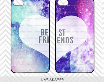 Galaxy Case / Best Friends iPhone 4 Case Pattern iPhone 5 Case iPhone 4S Case iPhone 5S Case One For Your BFF Set Phone Case