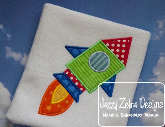 Space Rocket 2 Appliqué embroidery Design - space man appliqué design - space appliqué design - astronaut appliqué design