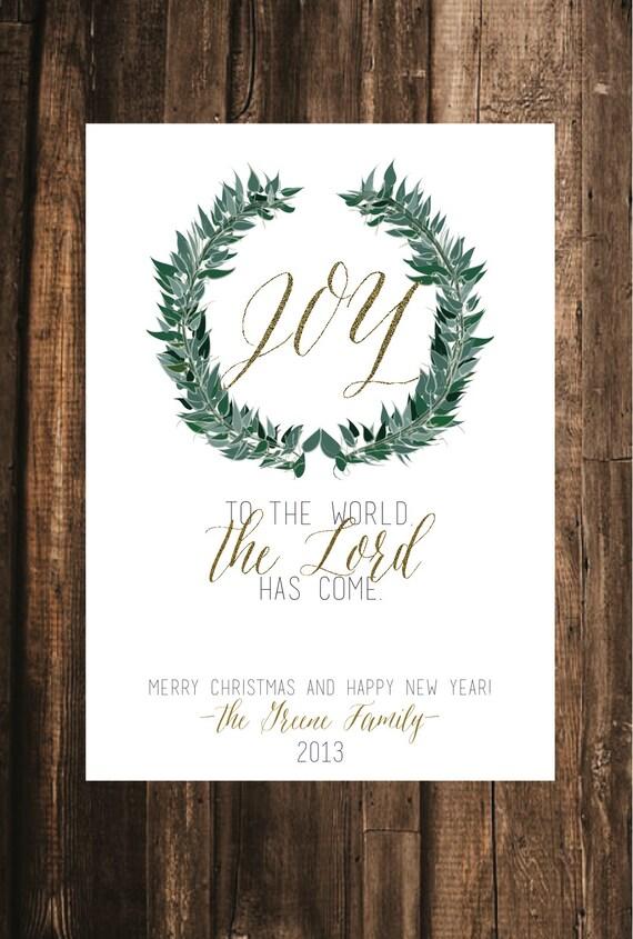 Joy to the World Christmas Card // 5x7 DIY Printable // | Etsy