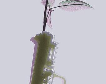 Hand Gun and Flower X-Ray Series 2  - Giclee Print