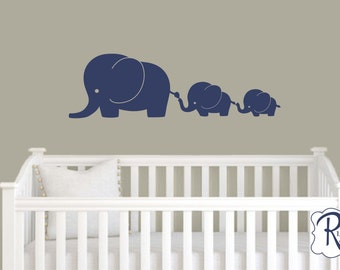 Cute Baby Elephant Wall Decals Elephant Nursery Decals - Nursery wall decals elephant
