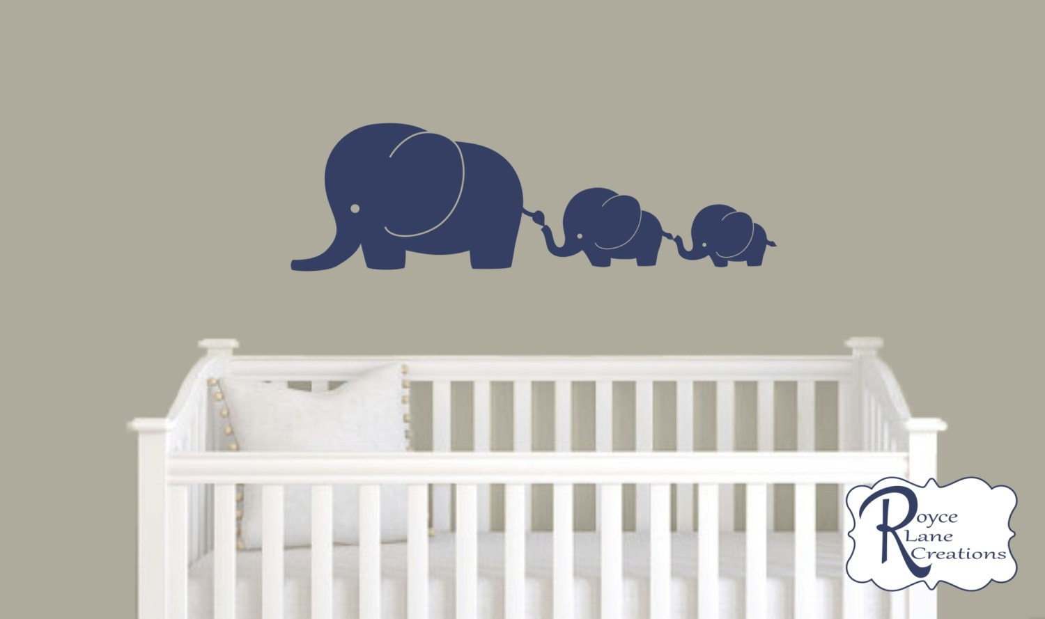 Nursery Decals Elephant Family Decal Nursery Elephant Wall - Nursery wall decals elephant