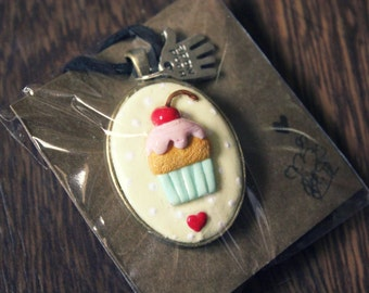 Cupcake Necklace (Made to Order)