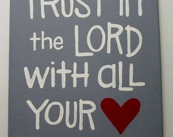 Canvas Painting - Trust in the Lord