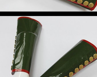 Kay military latex ARMBAND long arm warmers with buttons