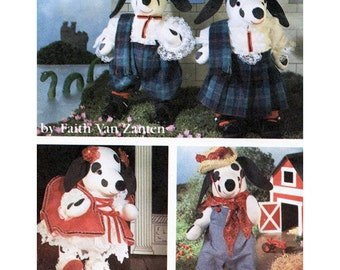 Simplicity 7864 Crafts Sewing Pattern Stuffed Dalmation & Clothes