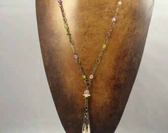 Necklace, Vintage inspired pendant necklace, Romantic pendant necklace