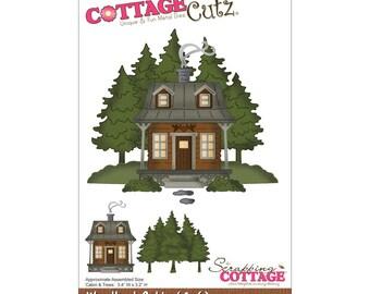 """CottageCutz Die 3.4""""X3.2"""" ~ Woodland Cabin, 4X6147 ~"""