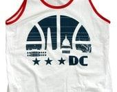 Washington DC Basketball Tank Top Ringer - Large