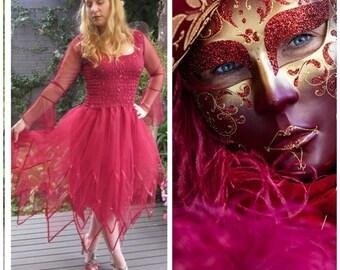 Woman's Fairy  Costume  ~  Plus Size Renaissance Faire ~  Masquerade ~ Renaissance