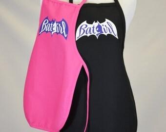 Child's Super Hero Bat Girl  Dress Up Costume Apron | Boy's or Girl's