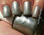 Ultimate Platinum by Prettypots Polish - Holographic Polish - 12ml Handmixed Holographic Aussie Indie Nail Polish