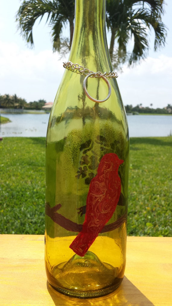 on sale song bird recycled wine bottle incense by