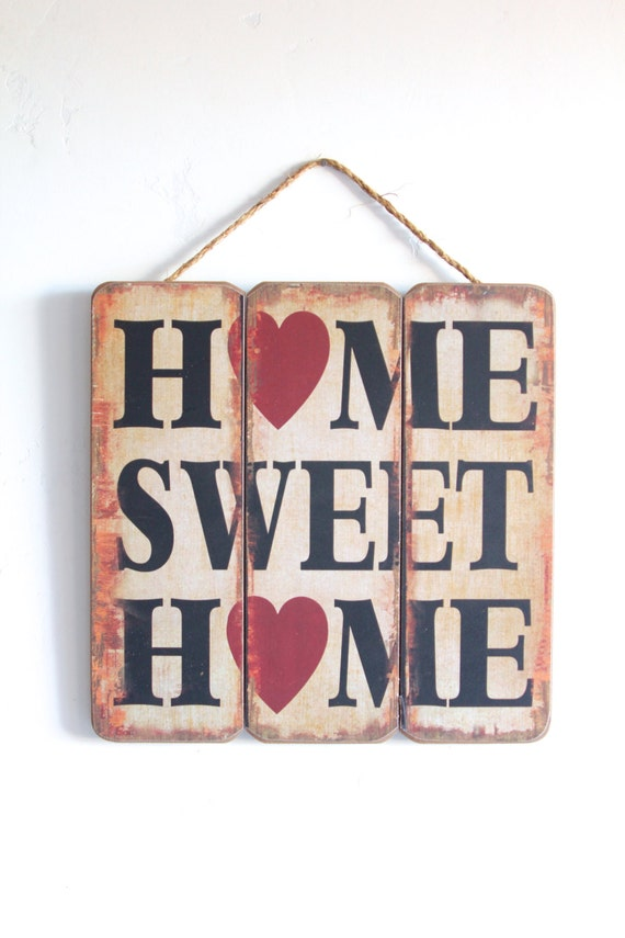 Sale 40 Off Home Sweet Home Home Decor Wooden By Honeywoodhome