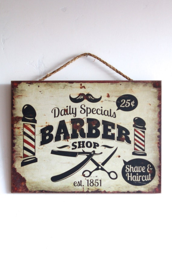 vintage barber shop decor