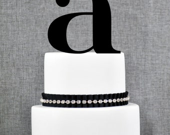 Letter A - Initial Cake Topper, Monogram Wedding Cake Topper, Custom Cake Topper