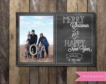 Chalkboard Christmas Card, Holiday Card, Photo Christmas Card, Christmas Card, Chalkboard, Chalkboard Holiday Christmas Card, Xmas Card