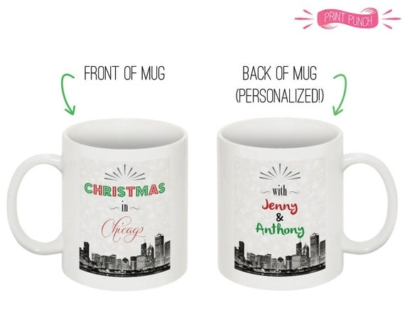 Six personalized christmas mugs with names and city by for Unique christmas mugs