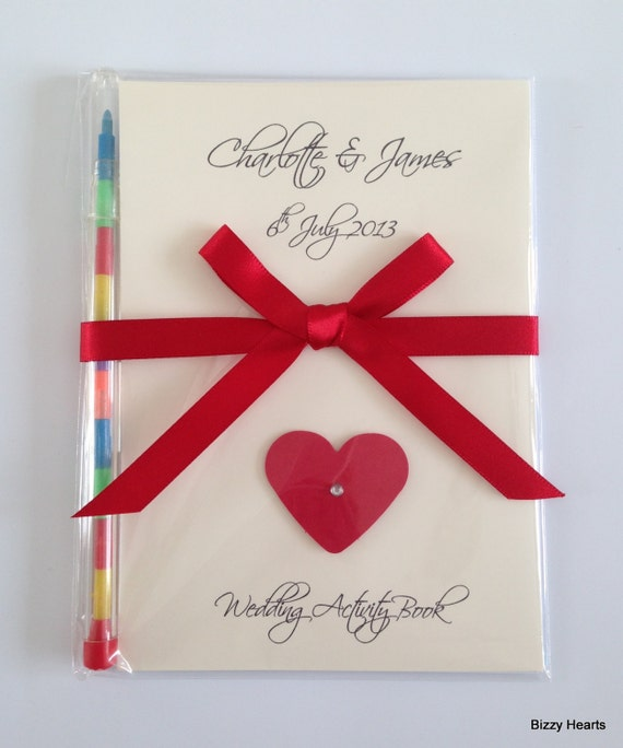 Personalised Wedding Gift Book : Childrens Personalised Wedding Activity Pack Book Gift Favour A6 ...