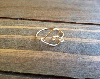Heart Wire Ring / Wire wrapped Ring / Custom fit