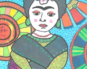 Frida Kahlo Blank Greeting Card