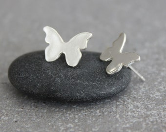 Butterfly Earrings. Butterfly stud Earrings, Silver Butterfly Earrings, Post Earrings, Gift for women.