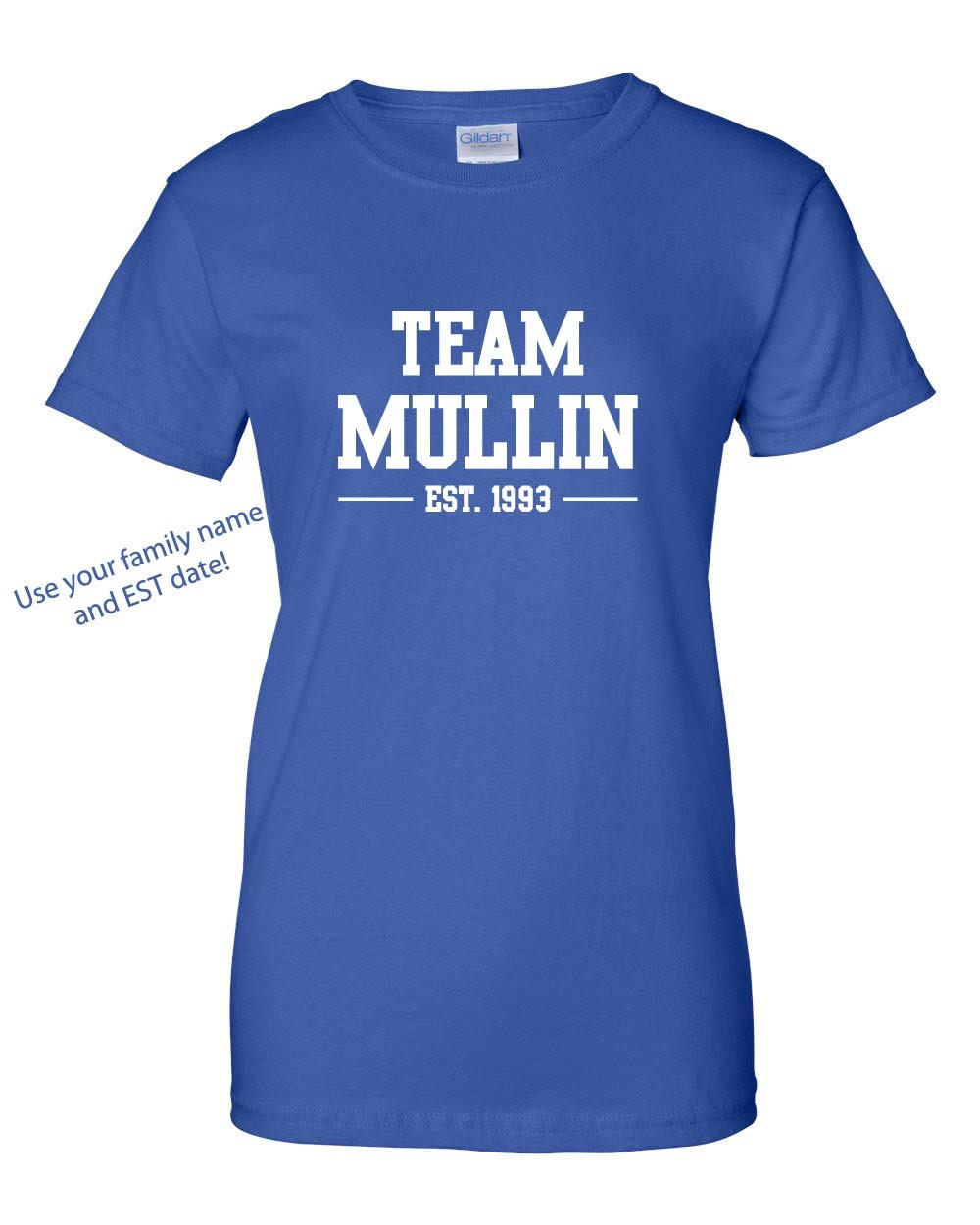 Custom team family name t shirts mother 39 s day family for Custom t shirts for teams