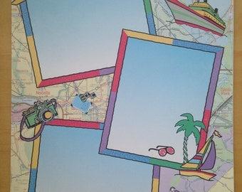 8.5x11 Travel Frames Paper