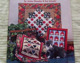 Mini Quilts by Anita Murphy & Her Friends. Contemporary. Traditional Quilts  Plus Doll Bed Size Quilt Vintage Softcover. Craft Books