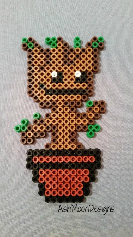 Dancing Baby Groot Perler Bead Figure By Ashmoondesigns On