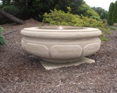 Outdoor Custom Concrete Firepit (Firepot) Hand-Carved